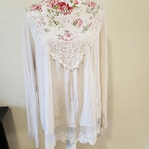 White lacy top. Size 21